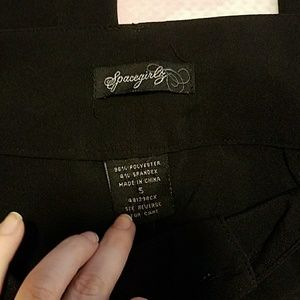 spacegirls Pants - Black flare dress pants